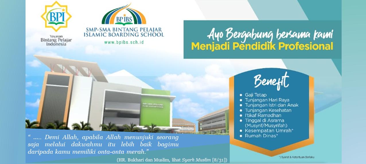 Lowongan Pendidik Profesional BP IBS